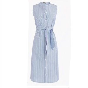 J. Crew Collection Sleeveless shirt dress stripe S